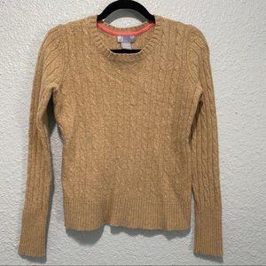 JCPenney Merino Blend Tan Crewneck Sweater